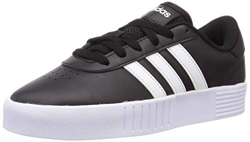 adidas Court Bold, Zapatillas de Deporte Mujer, NEGBÁS/FTWBLA/NEGBÁS, 39 1/3 EU