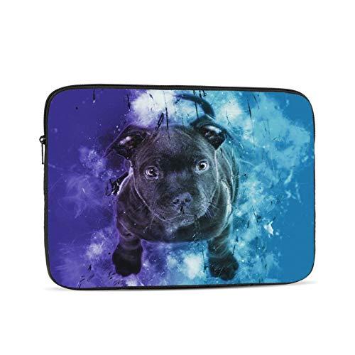 Bolsa de manga portátil negro Cachorro Digital Art Tablet maletín Ultraportable lona protectora para