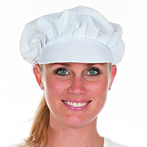 Franz Mensch Schirmmütze Mütze Hut mit Elastikband und abgestepptem Schirm Weiß fuer Damen oder Herren