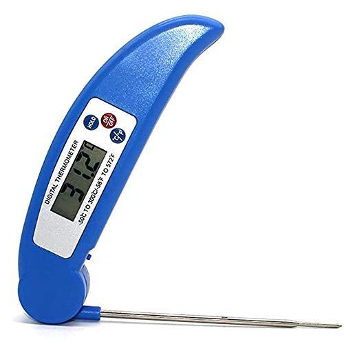 sonda de temperatura de alimentos digital, sonda plegable, termómetro digital de cocción, medición rápida de temperatura y cocción de carne termómetro de alimentos termómetro de aceite para freír