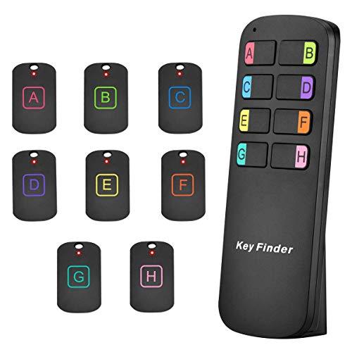 Localizador de llaves 8 en 1 inalámbrico, control remoto, localizador de artículos RF con linterna LED para llaves, mascotas, cartera, teléfono celular, el mejor regalo para los mayores [2019]