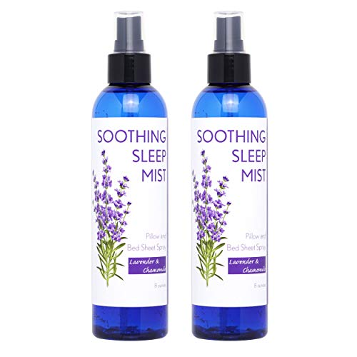 Sleep Spray for Calming Sleep. Relaxing Lavender Pillow Spray. All Natural Sleep Aid. Aromatic Mist to Promote Deep Sleep and Stop Snoring. 2X Large Bottles. (Lavender & Chamomile)