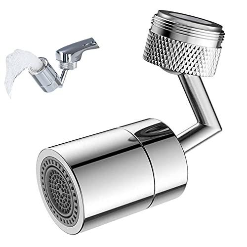 Filtro para grifo universal antisalpicaduras, giratorio de 720°, giratorio para cocina, baño, bidé, 2 modos