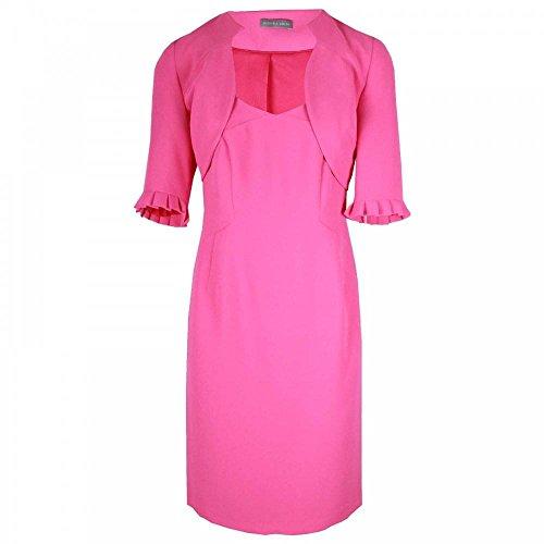 Michaela Louisa Sleeveless Dress & 3/4 Bolero Jacket 10 Fushsia