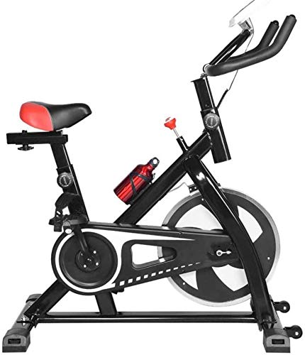 YLJYJ Upright Exercise Bikes Ultra-Quiet Indoor Spinning Bike Exercise Bicycle Sports Fitness Equ Black & White Home m Trainer spin bikection Home Spinning bikebic (Color : Black)