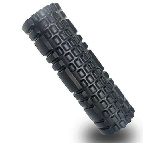 Gute - Rullo in schiuma, per massaggi muscolari profondi e leggeri, ultra leggero, per corridori, atleti, amanti dello yoga (nero)