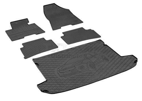 Passende Gummimatten und Kofferraumwanne Set geeignet für KIA Sportage ab 2016ein Satz + Gurtschoner