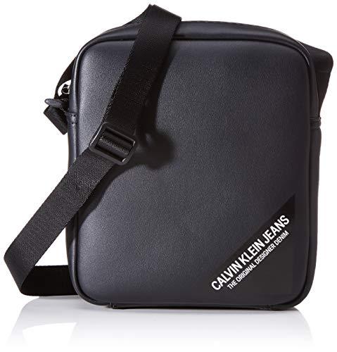 Calvin Klein Herren Smooth Stitch Micro Fp Schultertasche, Schwarz (Black), 5x15x21 centimeters