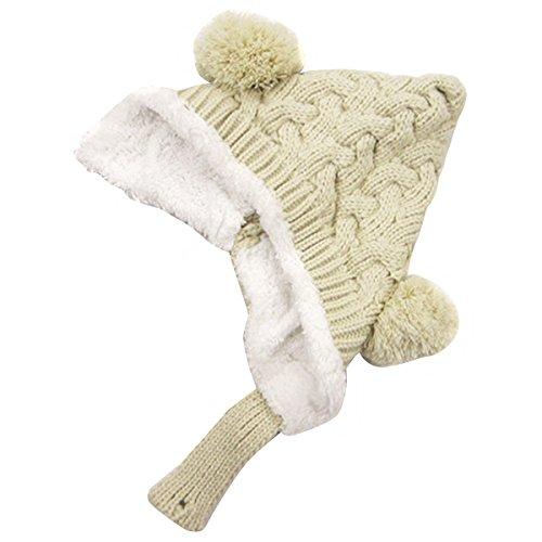 ZUMUii Butterme bébé Hiver Ohrenschützer Laine Hiver Chaud Bonnet tricoté Chapeau pour bébé Tout-Petit Enfant Fille garçon