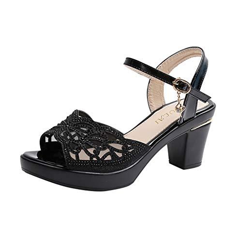 Sandalias Mujer Verano 2020 Moda Zapatos Tacón Alto Sandalias de Vestir Playa Zapatillas Zapatos de Boca de Pescado Sandalias de Punta Abierta Casual Fiesta Cómodo Sandalias