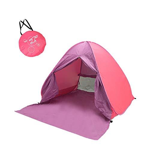 ZLOP Refugio de playa, portátil, extra ligero, portátil, tienda de campaña para exteriores, protección UV, tienda de playa para familia, playa, jardín, camping (1 unidad, rosa)
