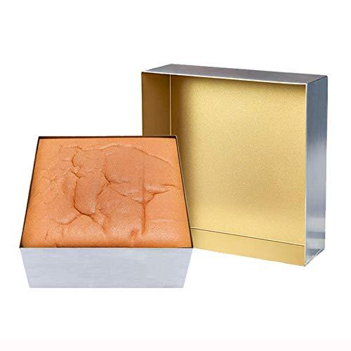 Rechteckige Aluminium-Kuchenform, PFOA PFOS PTFE-freies Backblech-Set, Brownie-Pfanne mit Antihaft- und Schnellwechselbeschichtung, Zweiteilige quadratische Kuchenform (Gold), 7 Zoll + 11 Zoll