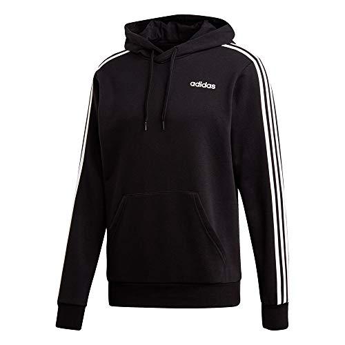 adidas Herren Hoody Essentials 3-Streifen French Terry, Black/White, L, DU0498
