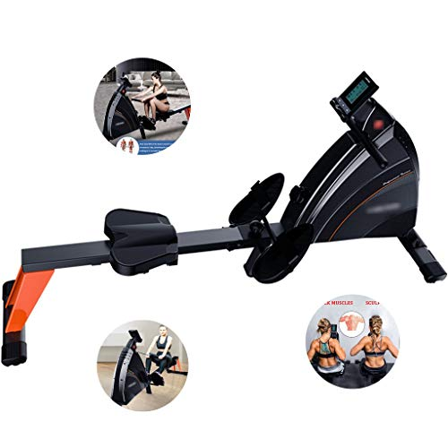 Lowest Prices! Rowing Machine for Home Use Foldable,Silent Magnetic Control Rowing Machine,Aerobic R...