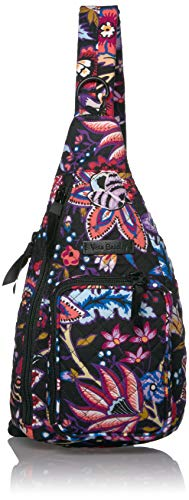 Vera Bradley Women's Signature Cotton Mini Sling Backpack, Foxwood, One Size