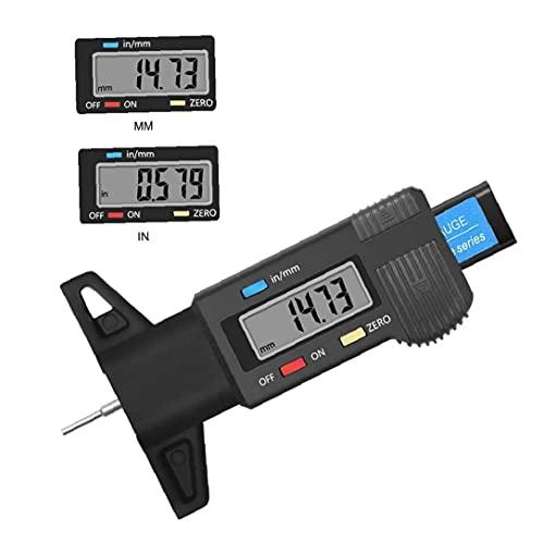 Tire Digital medidor de Profundidad 0-25.4mm la Profundidad del neumático fácil de Usar y no es fácil dañar probador con Pantalla LCD de Espesor Calibre de medición de Herramientas Negro