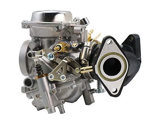 QIBIN Repuesto de carburador del motor, carburador XV 250 de 26 mm con colector adaptador/ajuste para Yamaha/Virago 250 V-star 250 Route 66 1988-2014, carburador de motorfiets, Motoraccessoires