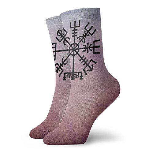 N/A Tennissocken,High Performance Kurzsocke,Anzug-Socken,Business Socken,Wikinger Symbol Männer Frauen Langlebige Sport Sport Socke Für Walking Wandern Erholung