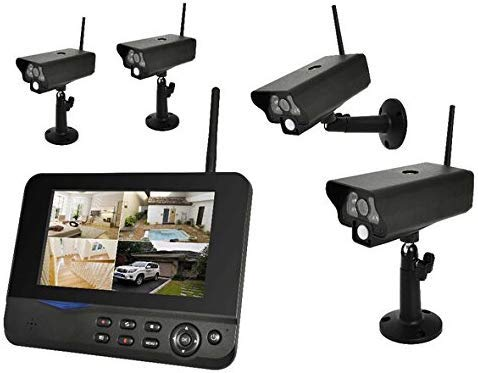 4 camera's digitaal draadloos CCTV-systeem met LCD-monitor en PIR-sensoren lsmaa
