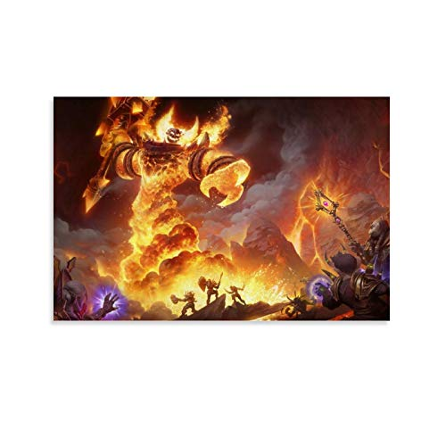DRAGON VINES World of Warcraft Fire Lord Ragnaros The Firelord Sulfuras Modern Contemporary Paintings Family Living Room Club Decoration 08x12inch(20x30cm)