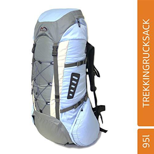 MONTIS Salmon 95 Trekking-Rucksack, Wander-Rucksack & Reise-Rucksack in einem, ermöglicht Dank Regenschutz auch Kletter- & Campingtouren, im Militär-Rucksack Look mit viel Extras & Belüftungssystem