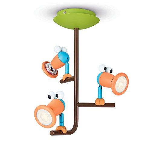 Philips myKidsRoom 5631355p0–Baby-Nachtlicht (mehrfarbig, Metall, Kinderzimmer, warmweiß, 3Bulb (S), 35°)