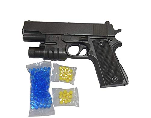 TOTTA Air Pistol Suitcase Mouser Gun with 6mm Hard Bullets and Soft Bullet with Laser Light One Aim