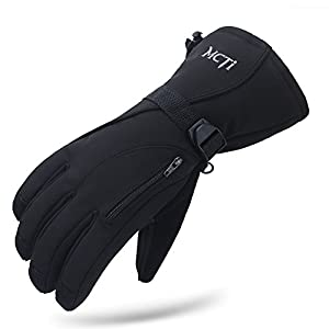 MCTi Waterproof Mens Ski Gloves Winter Warm 3M Thinsulate Snowboard Snowmobile Cold Weather...