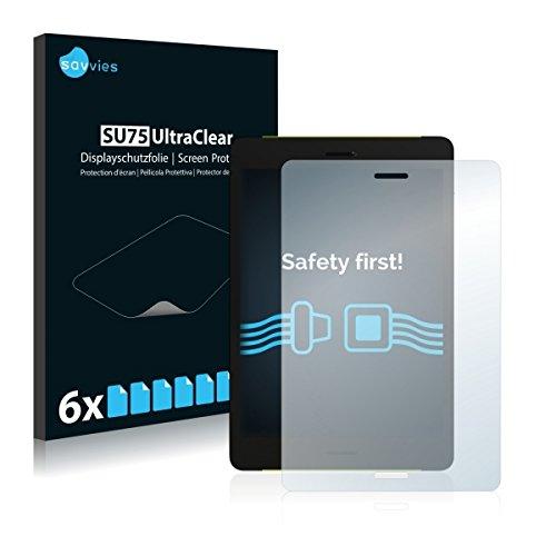 6x Savvies SU75 UltraClear Bildschirmschutz Schutzfolie für PocketBook Surfpad 4 M (ultraklar, mühelosanzubringen)