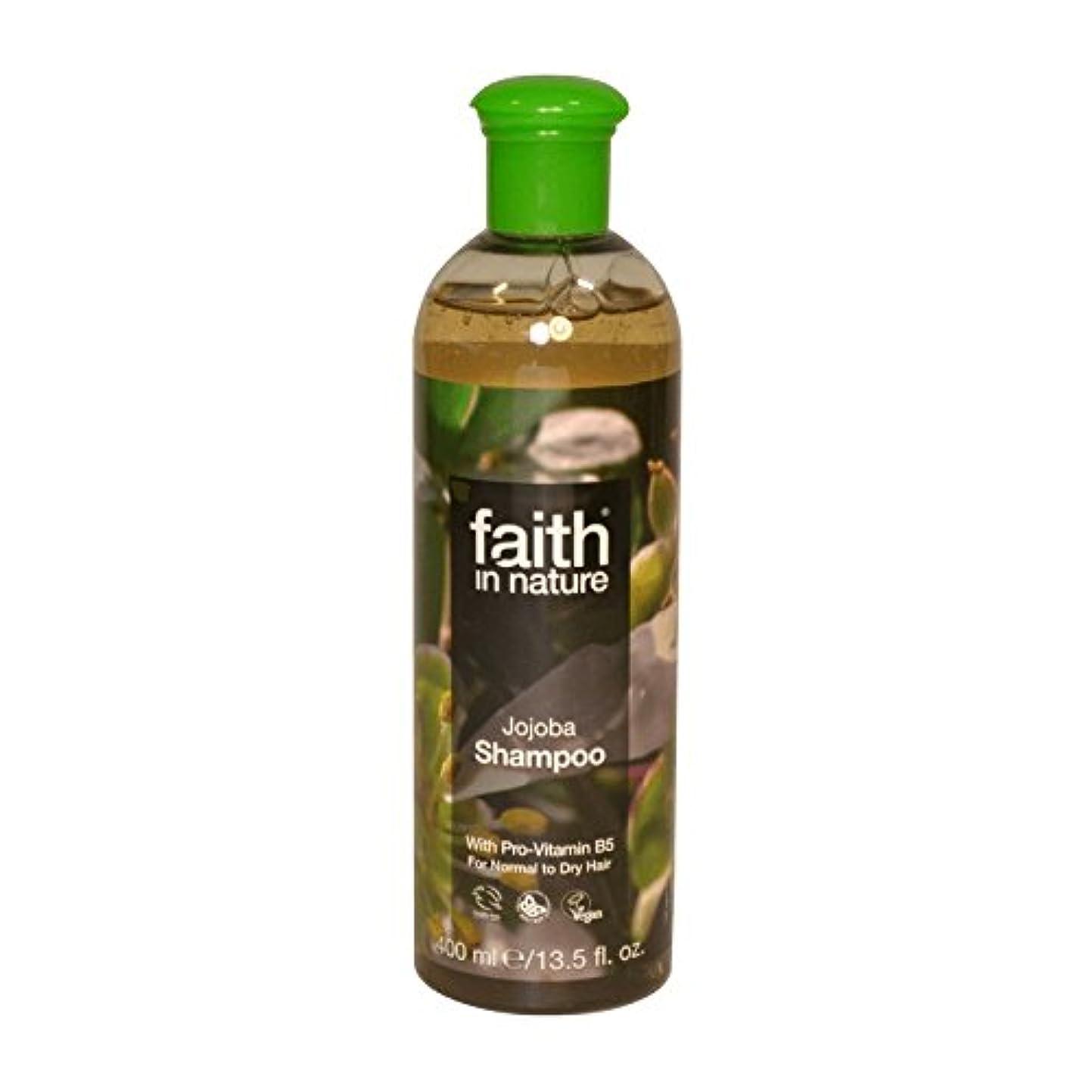 無織機改善する自然ホホバシャンプー400ミリリットルの信仰 - Faith in Nature Jojoba Shampoo 400ml (Faith in Nature) [並行輸入品]