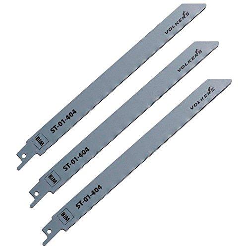 Preisvergleich Produktbild 3 Stück Säbelsägeblatt 228 / 1, 4 mm BiMetall für Metall INOX Kunststoff Holz