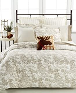 martha stewart collection arcadia toile flannel bedding collection