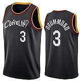 GIHI Camiseta De La NBA para Hombre, Nueva Temporada 2021 Cleveland Cavaliers 3# Camisetas De Andre Drummond, Ropa De Entrenamiento De Baloncesto De Malla Bordada Retro,S(165~170CM/50~65KG)