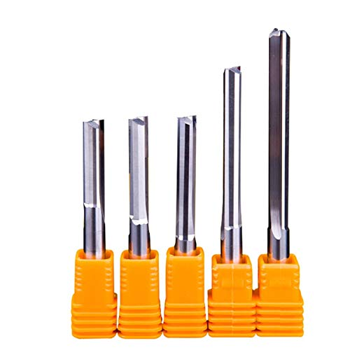 Fresa de carburo, 1 pieza de 6 mm 8 mm, dos flautas, brocas rectas para madera CNC de grabado recto, fresas de carburo, herramientas de fresado (longitud del filo: 6 x 42 x 70)