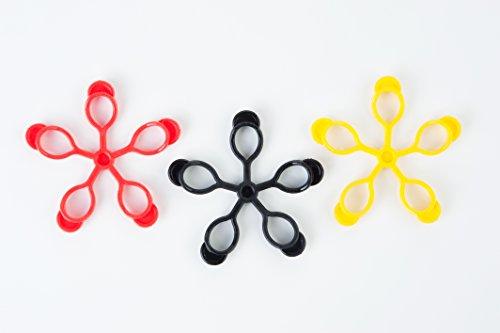 Pure 2Improve Finger Trainer Set, einfach (gelb), medium (rot), schwer (schwarz)