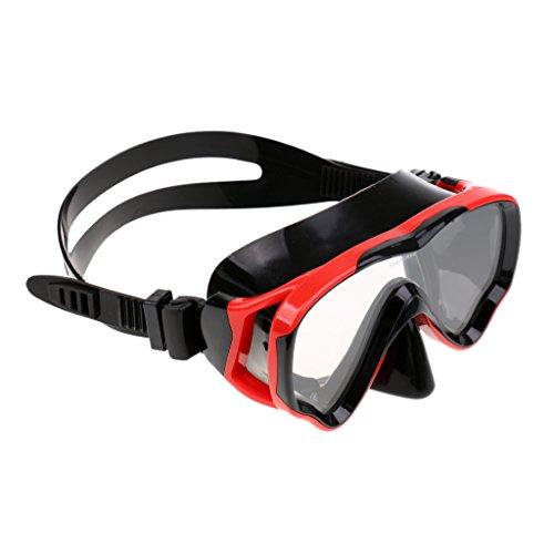 Milageto Máscara de Mergulho Profissional de Silicone, Máscara de Mergulho Anti-nevoeiro, Mergulhador à Prova de Vazamentos