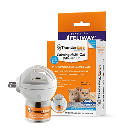 ThunderEase Multicat Calming Pheromone Diffuser Kit