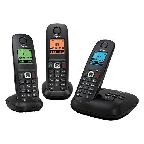 Gigaset Gigaset A540A TRIO Noir - Teléfono fijo digital (manos libres), negro [Versión Importada]