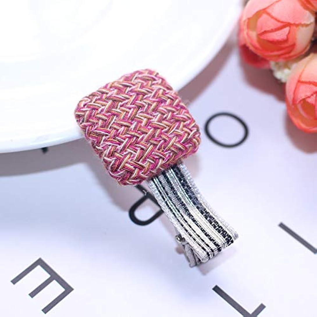 含意配偶者令状HuaQingPiJu-JP ファッションシンプルなボタンの子供のヘアピン便利なヘアクリップ(ピンク)