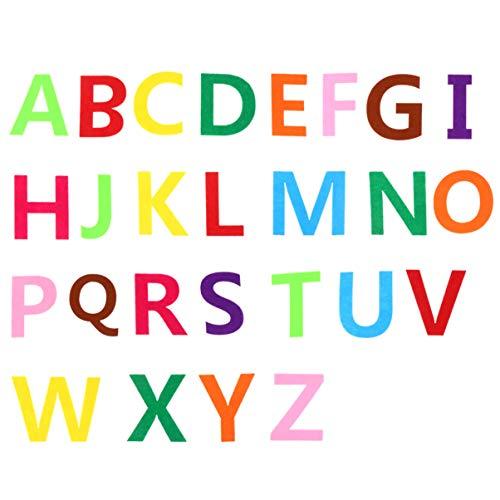 EXCEART 52 Piezas de Fieltro Letras del Alfabeto a a Z Colores Surtidos ABCs de Tela para DIY Craft Kidstoys Decoración de Fiesta de Cumpleaños