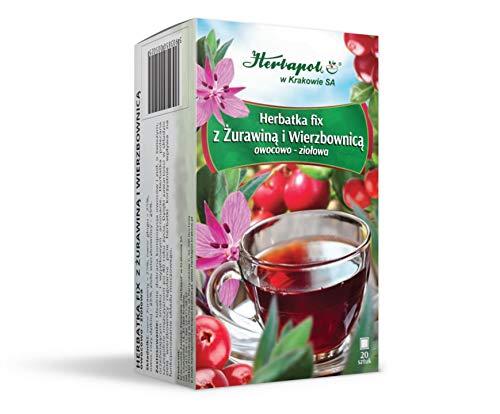 Tee fix mit Preiselbeeren und Weidenröschen, 20 Teebeutel, Herbapol Krakow
