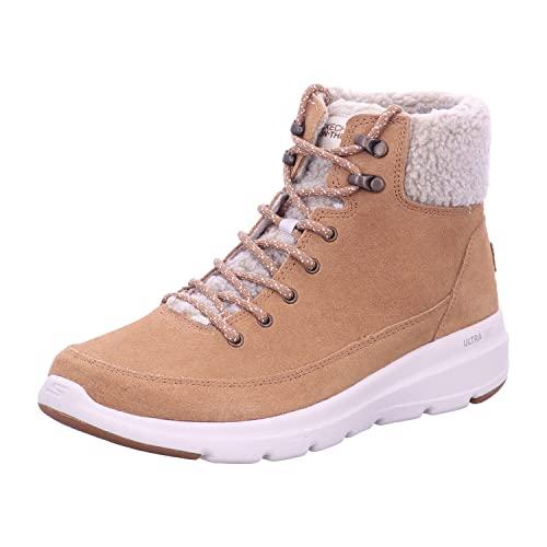 Skechers Women's Glacial Ultra Woodlands Ankle Boot, Black, 6.5 UK