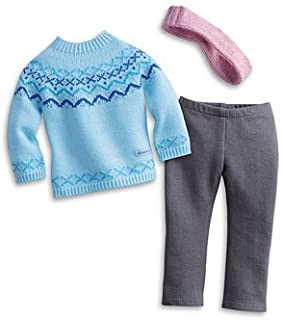 American Girl Frosty Fair Isle Set for Dolls + Charm - MY AG 2013