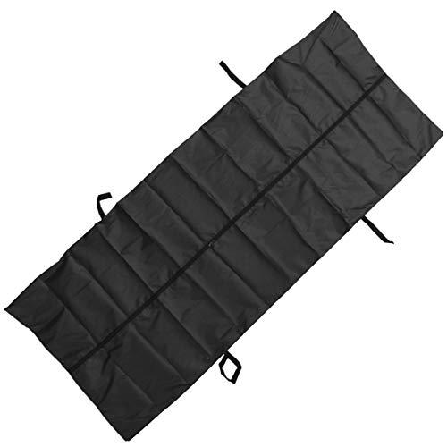 DOITOOL Leichen-Leichensäcke PVC-Einweg-Auslaufsicherer Oxford-Tierkadaver-Beutel Notfall-Leichentasche für Haustiere 210X75cm (Schwarz)