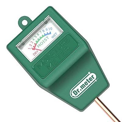 Dr.meter S10 Soil Moisture Sensor Meter Hygrometer-Garden,Farm,Lawn,Plants,Indoor&Outdoor(No Battery Needed)