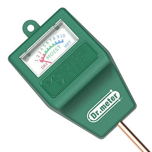 Dr.meter Medidor de Suelo, Sensor de Humedad higrómetro para jardín, Plantas de césped en Interiores y Exteriores (no Necesita batería)