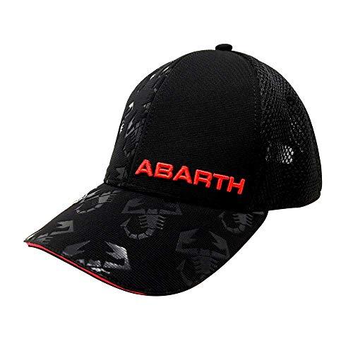 Abarth schwarzer Sommerhut mit gebogenem Visier