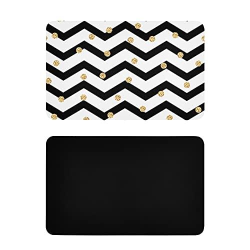 Imanes de Etiqueta Cuadrada Fashional Popular Blanco Negro Wave Point Imanes Personalizados para refrigerador Imanes de Nevera Personalizados de Pvc4x2.5 Pulgadas