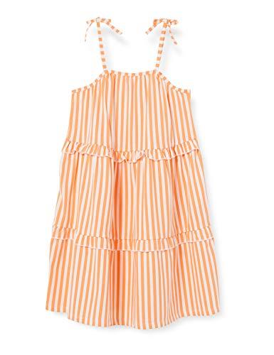 NAME IT NKFFAGMAR Strap Dress Atuendo de Jugador, Cantaloupe, 140 para Niñas