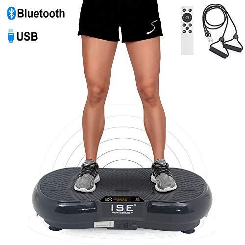 ISE Plateforme Vibrante Fitness, Grande Surface 67x36cm,99 Niveaux de Vitesses avec...